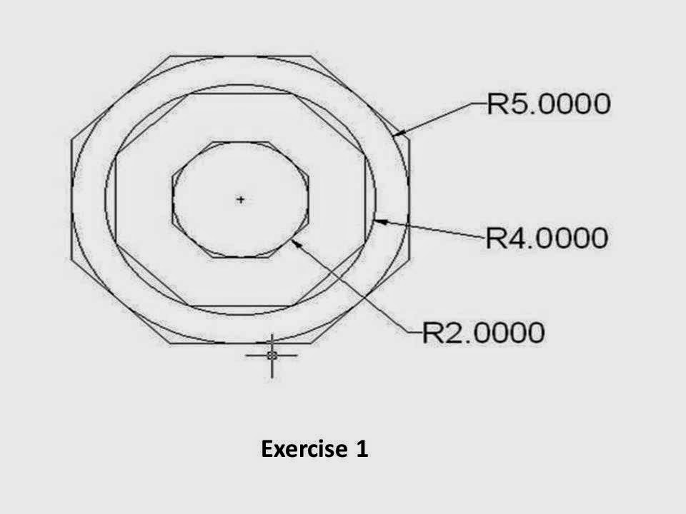 how to draw circle in autocad in mm