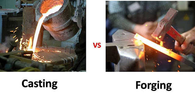 Difference between Forging vs Casting