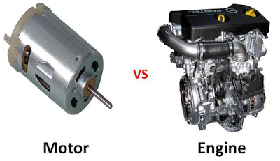 Difference between Motor and Engine